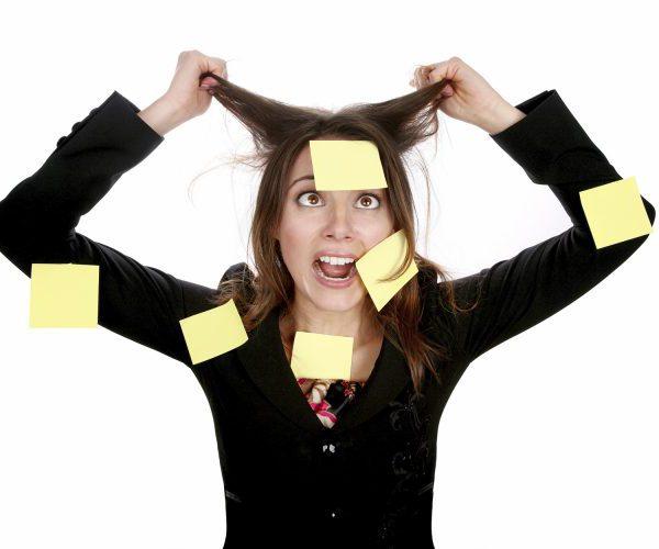 Девушка стресс