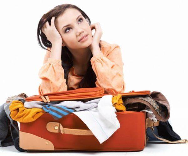 Женщина едет в отпуск