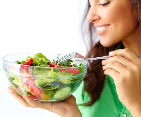 Женщина правильное питание