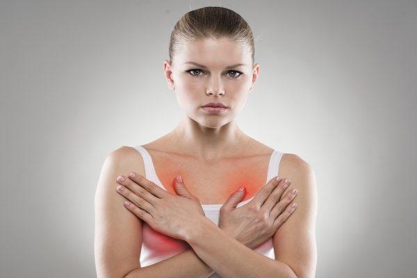 возникновение боли в груди во время месячных норма