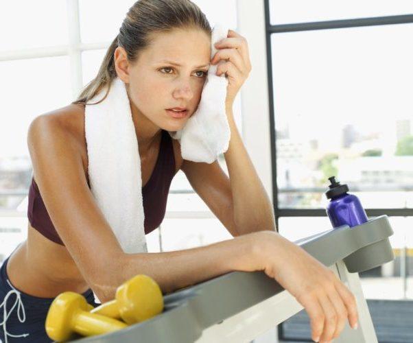 Женщина физические нагрузки