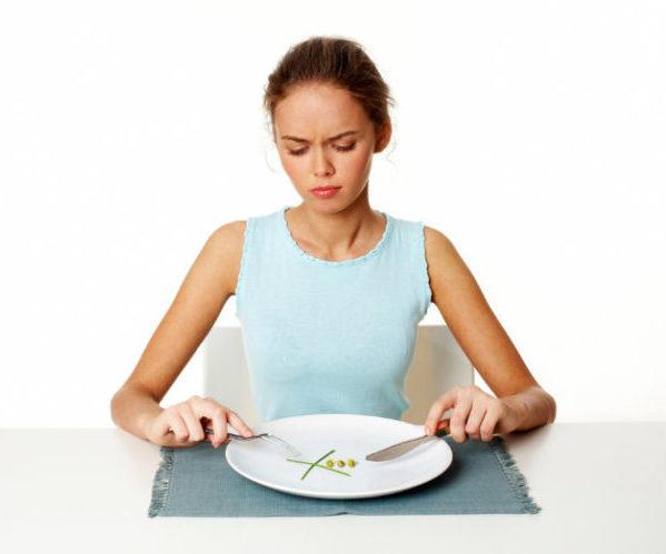 Женщина голодание