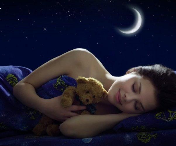 Девушка спит ночь